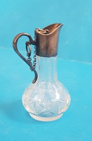 Régi (parfümös?) üveg, ezüst szereléssel