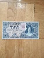 Ropogós 500 pengő adópengő illeték bélyeggel