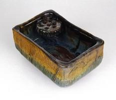 1D068 Iparművészeti mázas ikebana kerámia váza