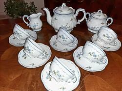 Zsolnay barackvirágos teáskészlet