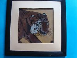 Üvegfestmény kép Tigris ,