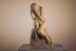Női akt márványszobor, valószínűsített Kisfaludi Strobl tanítvány