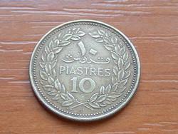 LIBANON 10 PIASZTER 1969 (1969 (c+o, a) LIBANONI CÉDRUS #