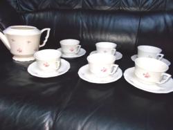 Manó-füles Zsolnay teás készlet