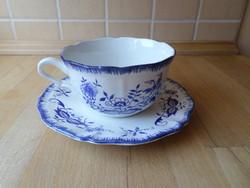 Sarreguemines Lancaster hagymamintás porcelán csésze teáscsésze alátéttel
