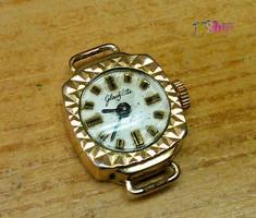 Miniatűr antik Glashütte női óra aranyozott tokban, gyűjteménybe való darab