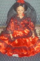 Eladó egy (Spanyol táncosnő) porcelán baba