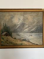Antik Olajfestmény 75x65 cm