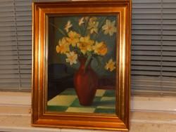 40 x 30 cm-es képhez minőségi keret, kitűnő állapotban, ajándék festménnyel