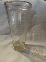 Retro vastagfalú üveg mérőpohár