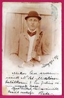 E - 0039 - - - Műtermi foto, mint üdvözlőlap 1901