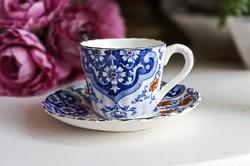 Antik Sarreguemines Monreal kávés csésze