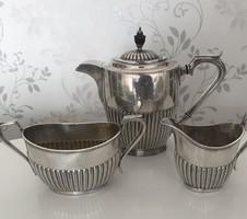 Angol antik ezüstözött tea szett 3 db-os