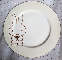 Miffy nyuszis porcelán tányér 23.5cm