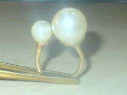 Óriás Shell Pearl Gyöngy Aranyozott Gyűrű szabadon állítható