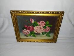 Gyönyörű Peiffer György virágcsendélet festmény