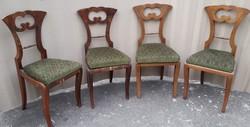 4 db antik biedermeier szék.