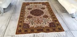Iráni tabriz minta 123x187 kézi csomózású gyapjú perzsa szőnyeg MM_144