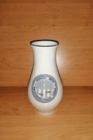 Alföldi porcelán váza 19 cm Csongrád megyei Közlekedésbiztonsági Tanács (1/d)