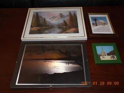 Négy darab kép, fénykép, nyomat, képkeret