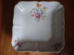 Eichwald porcelán köretes tál, virágmintás dekorral