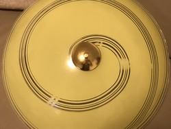 Retro mennyezeti lámpa vanília színben, 50 cm átmérő