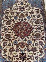 Kézi Csomózású Antik Isfahan Perzsa Szőnyeg 106x180