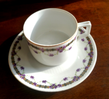 Zsolnay ibolyás teás csésze szett