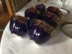 Lomonoszov teás csészék 6 db, vitrin állapot, (100)