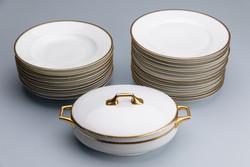 Thomas Bavaria tányérok, 9 mély, 12 lapos, 1 tál fedővel, jelzett, régi.