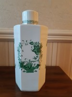 Herendi Indiai kosár  mintás fedeles váza 27 cm