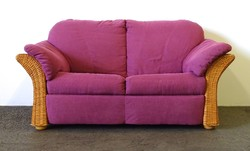 1D116 Kétszemélyes lila rattan kanapé 160 cm