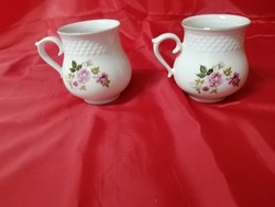 Hollóházi porcelán rózsás hasas bögre