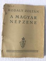 Kodály Zoltán -  A magyar népzene - 1943