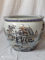 Kínai porcelán kaspó, XX.szd második fele. Sérülésmentes.