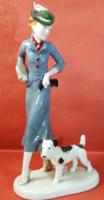 Art deco kerámia figura az 1920-as évekből! 30,5cm!