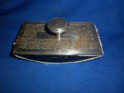 Antik öntöttvas díszes fém tapper tinta itató