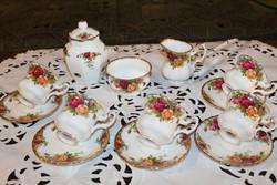 Royal Albert Old Country Roses  teáskészlet fűszertartóval
