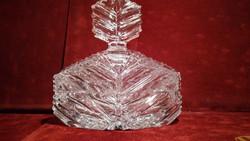 Metszett kristály parfümös üveg