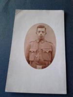 Réve Pepi börtönőr , Gercse , Vas megye , Katona  fotó ,képeslap , kb.1917.