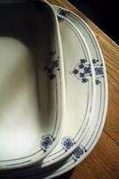 Antik szecessziós porcelán tálaló tálak köretes tál pecsenyés tálak