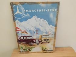 Régi plakát Mercedes - Benz ritkaság
