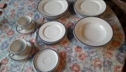 Zsolnai porcelán tányérak-bögrék egyben