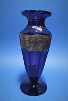 Moser kék üveg váza