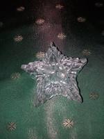 Csillag alakú üveg bonbonier