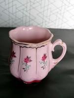 Retró rózsaszín hasas rózsás csésze