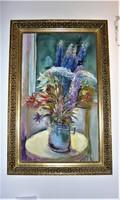 "Festmény, ""Mezei virágok"" 39x60 cm"