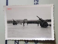 2 vh Német katonák szemle, ágyú 6,5x9cm