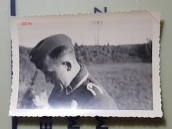 2 vh Német katona macskával 6,5x9cm