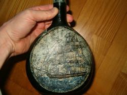 Régi retró italos üveg 80 s éveknek mondanám szocreál kádár barokk táska KIÁRUSÍTÁS 1 Forintról